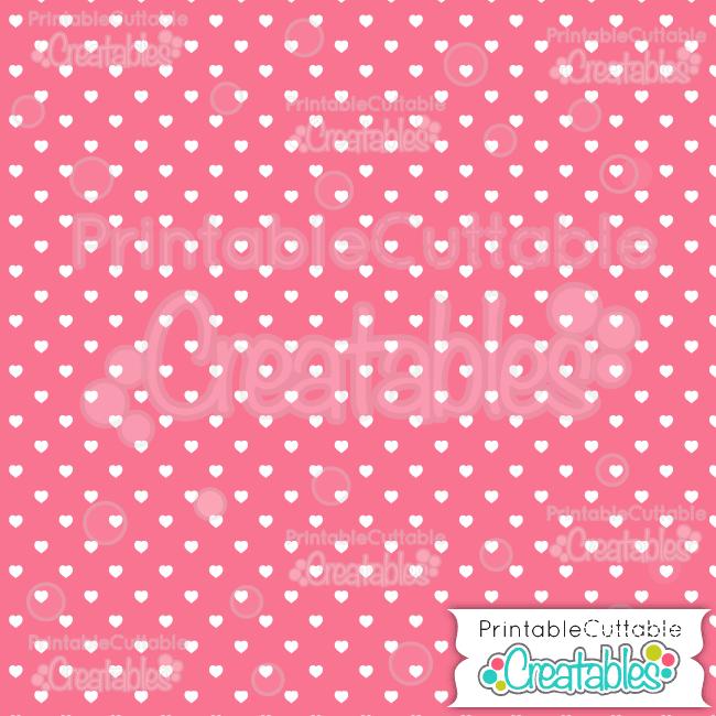 05 Dk Pink Polka Dot Hearts Seamless Pattern Digital Paper preview