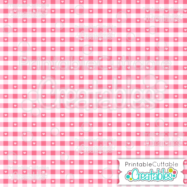 05 Heart Gingham Plaid Check Digital Paper Seamless Pattern Tile preview