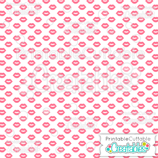 07 Kissing Lips White Digital Paper Seamless Pattern Tile preview