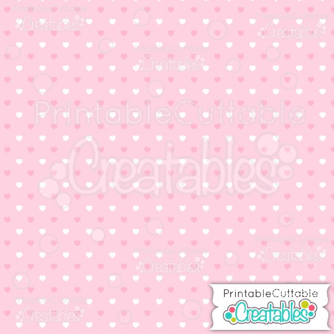 07 Lt Pink Half Drop Polka Dot Hearts Seamless Pattern Digital Paper preview