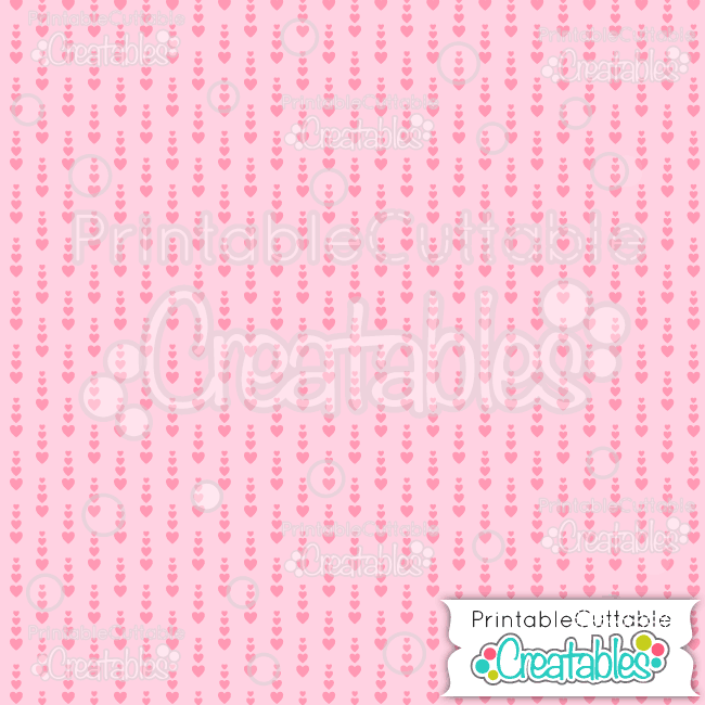 08 Lt Pink Growing Hearts Digital Paper Seamless Pattern Tile preview