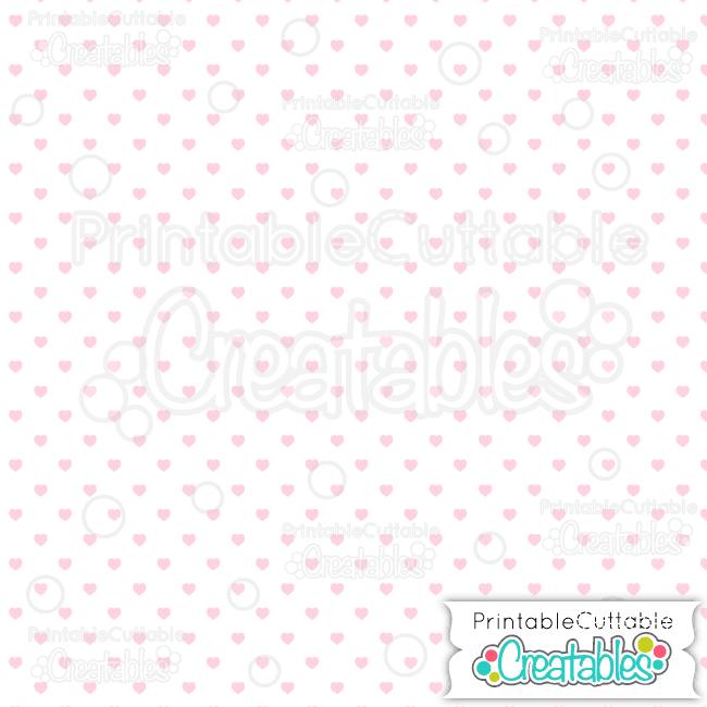08 Whte Lt Pink Polka Dot Hearts Seamless Pattern Digital Paper preview