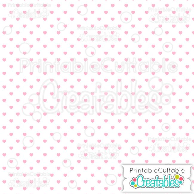 09 White Pink Polka Dot Hearts Seamless Pattern Digital Paper preview
