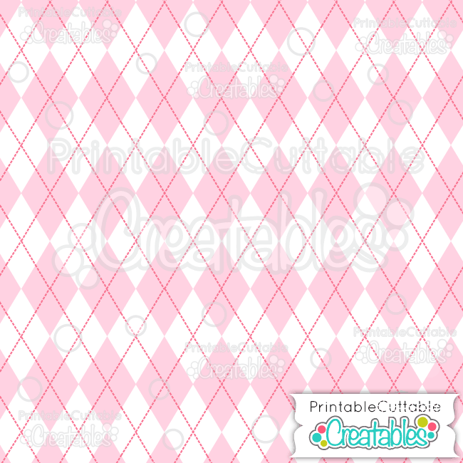 10 Lt Pink Argyle Digital Paper Seamless Pattern Tile preview