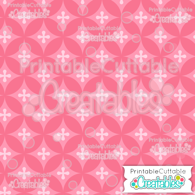 11 Dk Pink Interlocking Circles Digital Paper Seamless Pattern Tile preview
