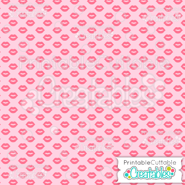 12 Kissing Lips Pink Digital Paper Seamless Pattern Tile preview
