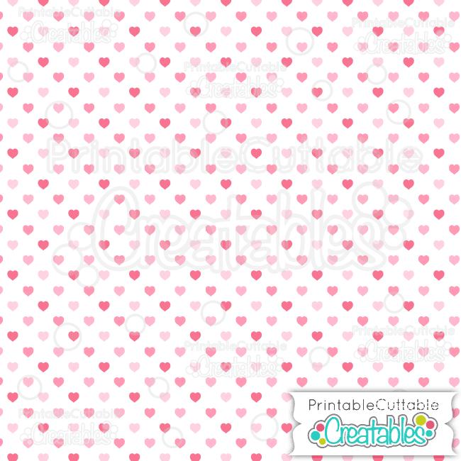 12 White Multi Pink Polka Dot Hearts Seamless Pattern Digital Paper preview