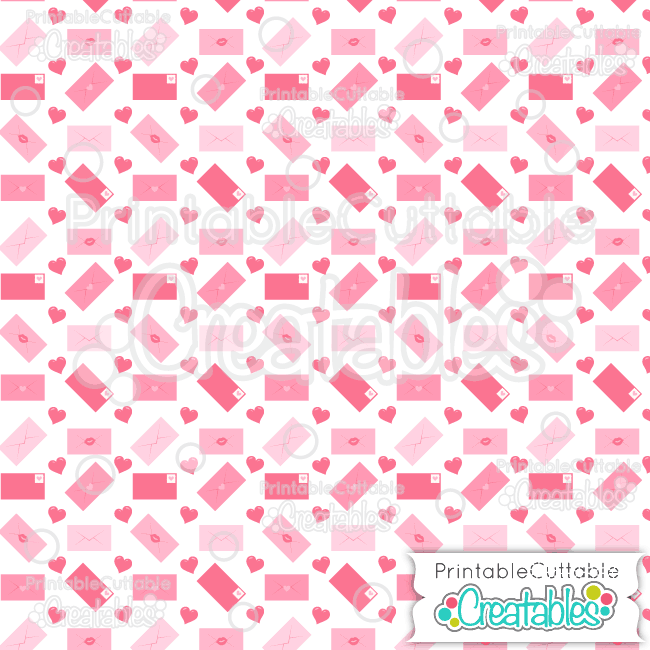 15 Love Letters Digital Paper Seamless Pattern Tile preview