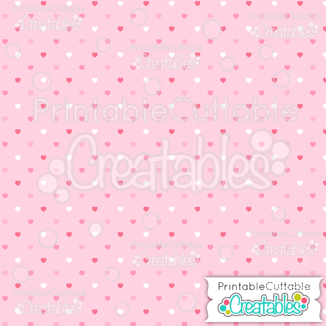 17 Multi Pink Mini Polka Dot Hearts Digital Paper Seamless Pattern Tile preview