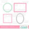 Scalloped Hearts Frames Set FREE SVG Cut Files