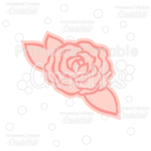 Rose Outline FREE SVG Cut File