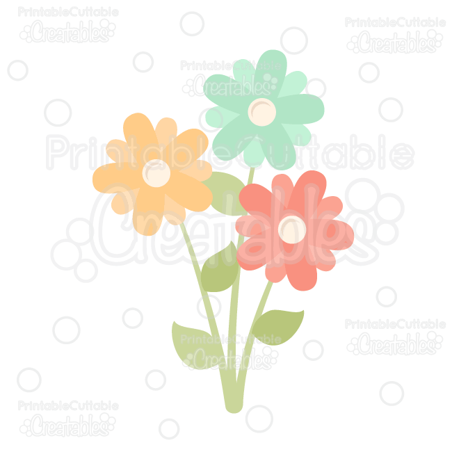 Flowers cut file for scrapbooking flower free flower svg file free cut - Spring Flowers Free Svg Cut File Amp Clipart Silhouette
