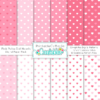 Pink Polka Dot Hearts Seamless Patterns & Digital Paper Pack