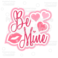 Be Mine Scrapbook Title SVG Cut File