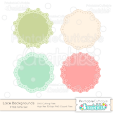 Lace Backgrounds FREE SVG Cut Files Doilies Frames