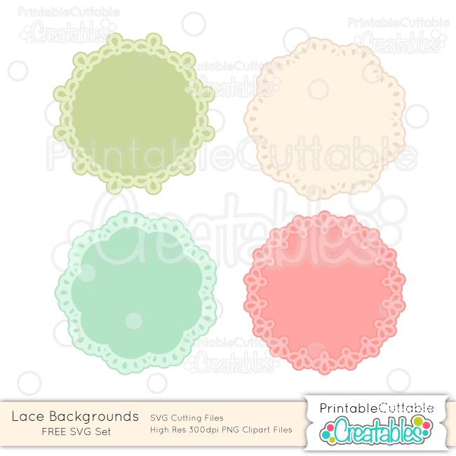 Lace Backgrounds FREE SVG Cut Files Doilies Frames