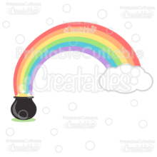 Pot of Gold Rainbow SVG Cut File