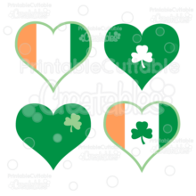 Irish Hearts FREE SVG Cut File & Clipart Set