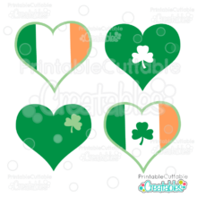 Irish Hearts Free SVG File for Cricut & Silhouette