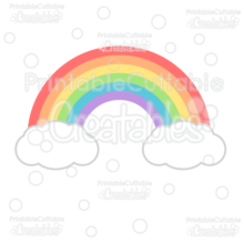 Rainbow SVG Cutting File & Clipart