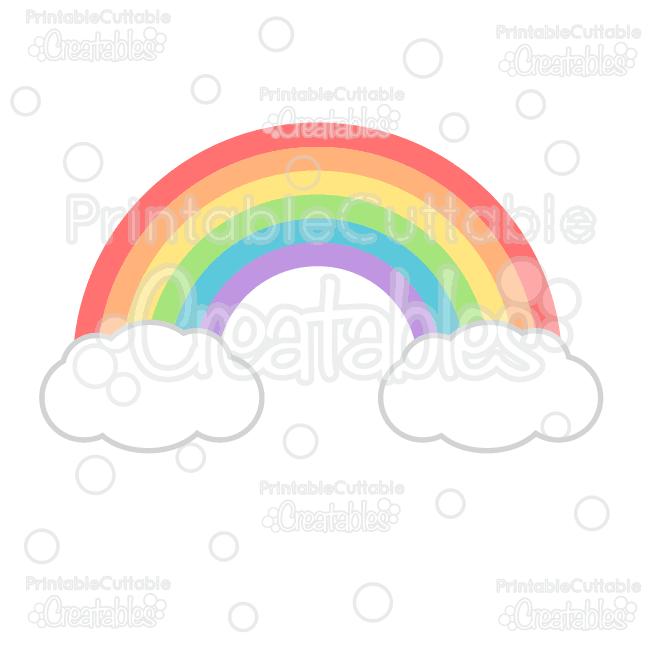Rainbow SVG Cutting File & Clipart