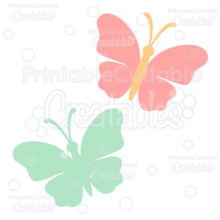 Butterfly Silhouette FREE SVG Cut File