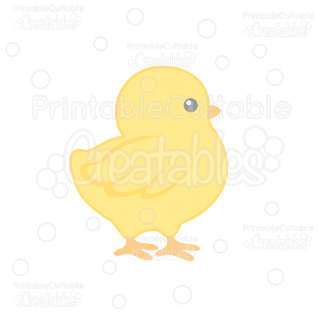 Cute Chick SVG Cut File