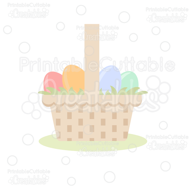 Easter Basket SVG Cut File