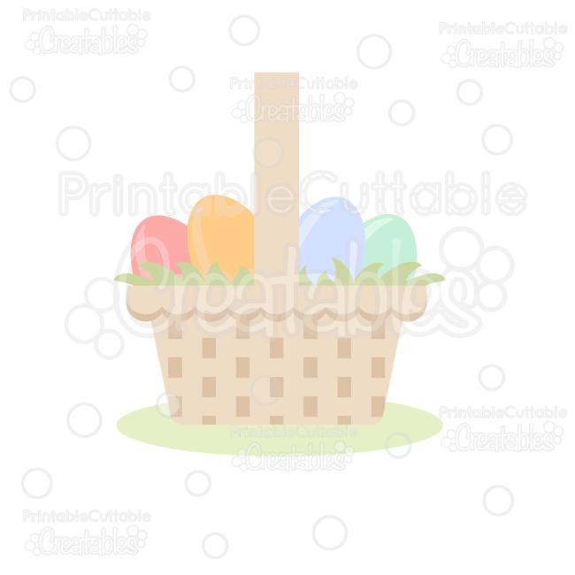 pdf Easter Basket Cut File SVG PNG