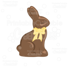 Chocolate Bunny SVG Cut File & Clipart