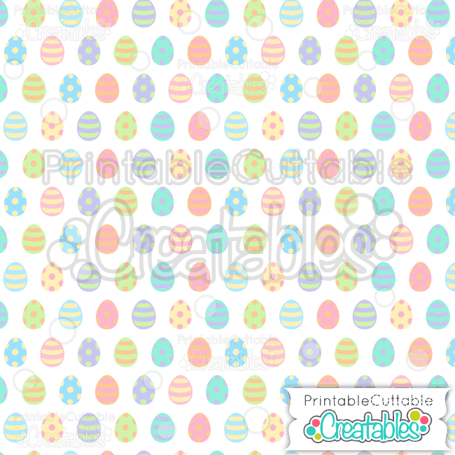 01 Easter Eggs Seamless Pattern Digital Paper Preview