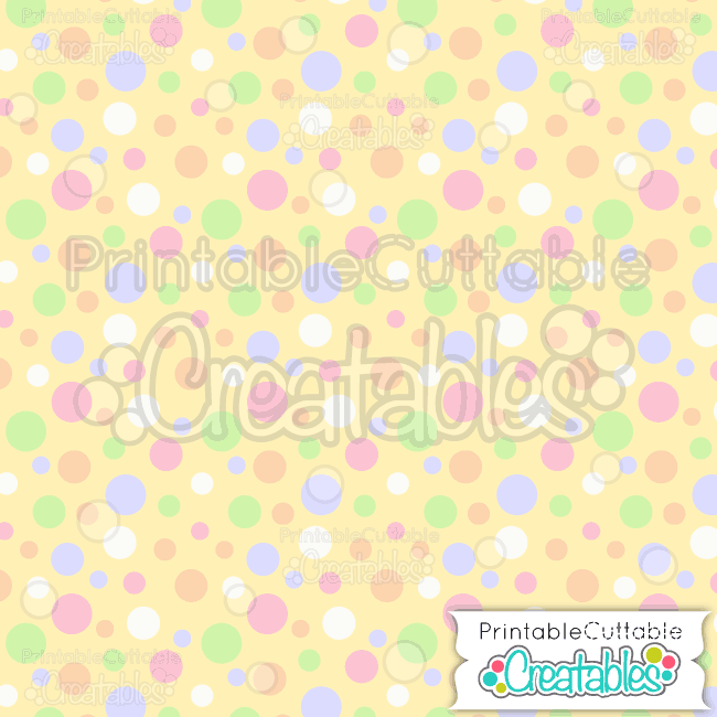02 Easter Tossed Dots Seamless Pattern Digital Paper Preview
