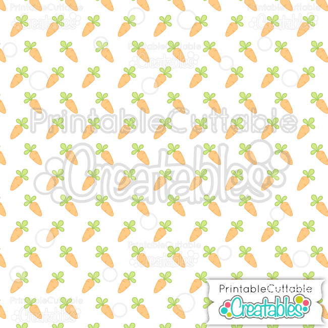 04 Spring Carrots Seamless Pattern Digital Paper Preview