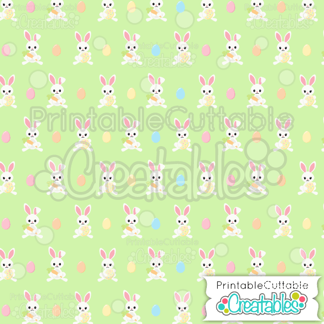 05 Easter Bunnies Seamless Pattern Digital Paper Preview