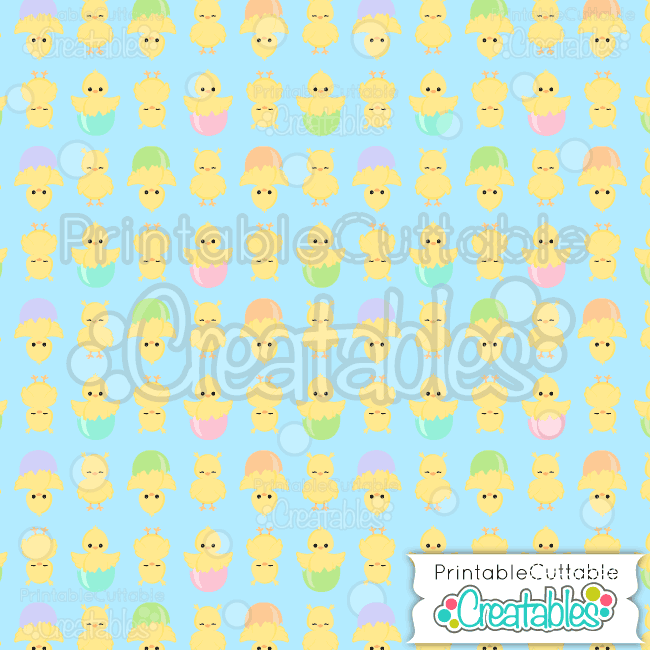 07 Easter Chicks Hatching Seamless Pattern Digital Paper Preview