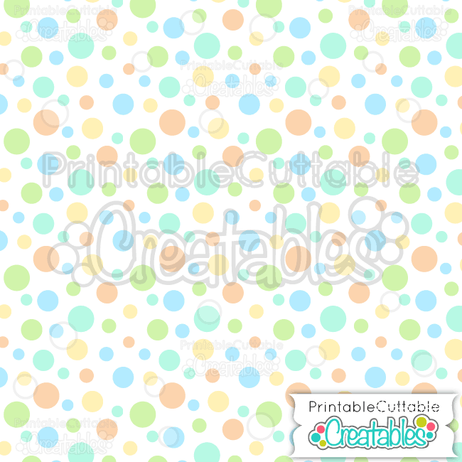 07 Easter Tossed Dot Blue Seamless Pattern Digital Paper Preview