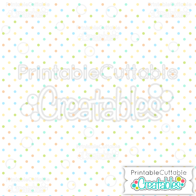 09 Small Easter Polka Dots Blue Seamless Pattern Digital Paper Preview