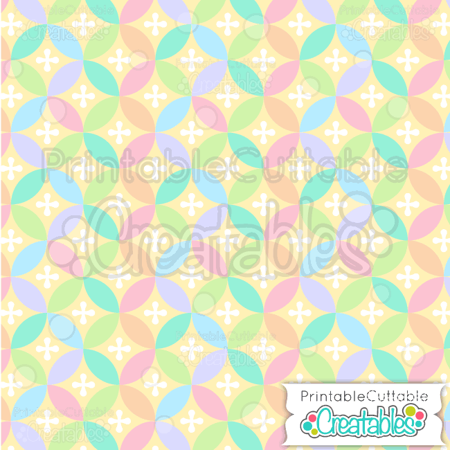 12 Easter Interlocking Circles Seamless Pattern Digital Paper Preview