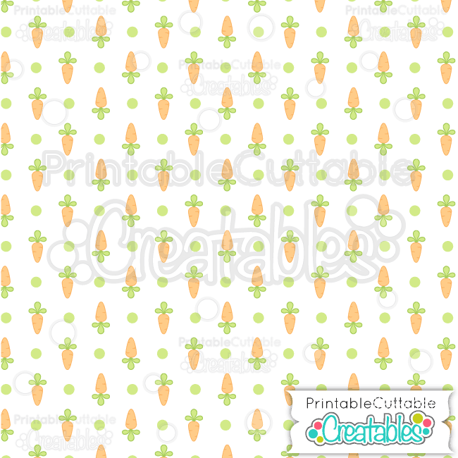 16 Easter Carrot Dot Seamless Pattern Digital Paper Preview