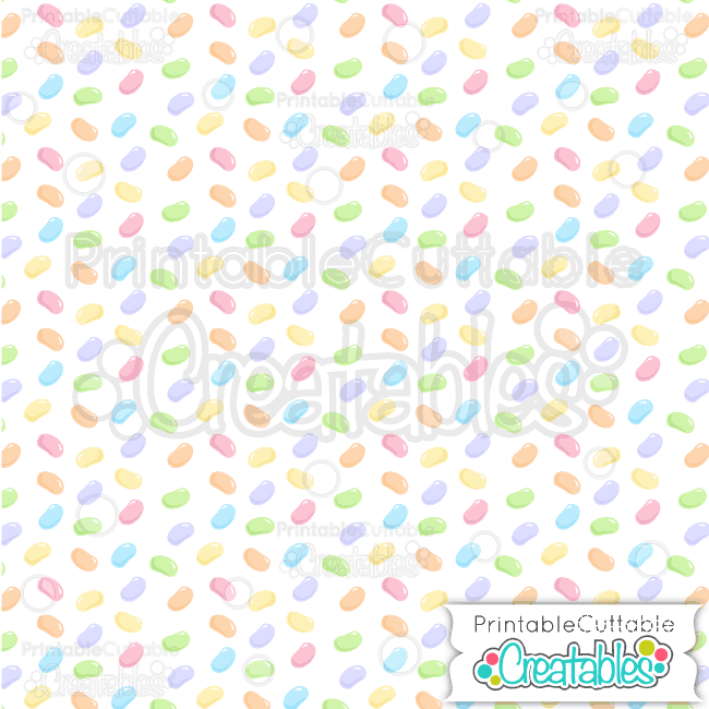 18 Easter Tossed Jelly Beans Seamless Pattern Digital Paper Preview