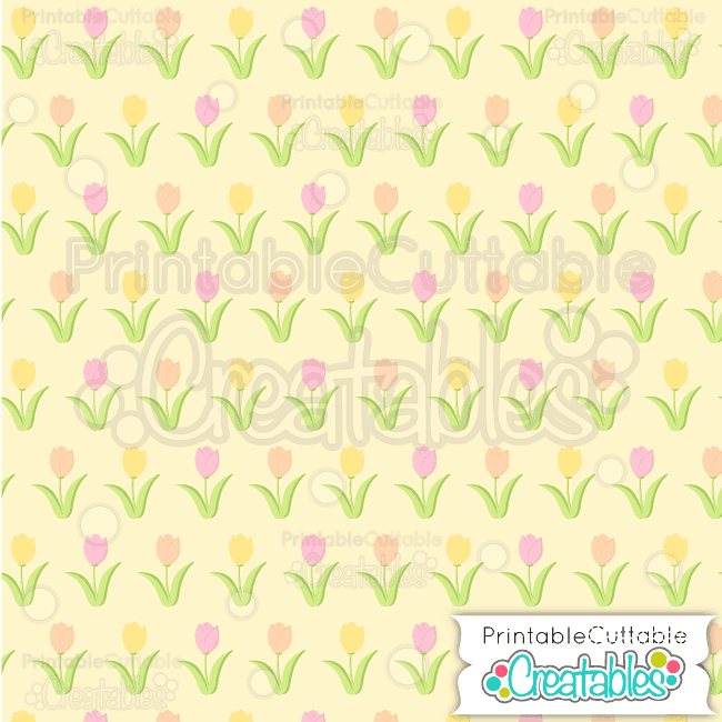 19 Spring Tulips Seamless Pattern Digital Paper Preview
