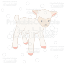 Cute Lamb SVG Cut File & Clipart