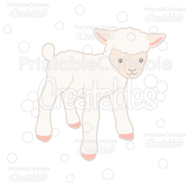 Cute Lamb SVG Cut File & Clipart