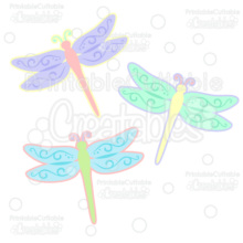 Spring Flourish Dragonfly SVG Cut File & Clipart