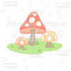 Woodland Mushrooms SVG Cut File & Clipart
