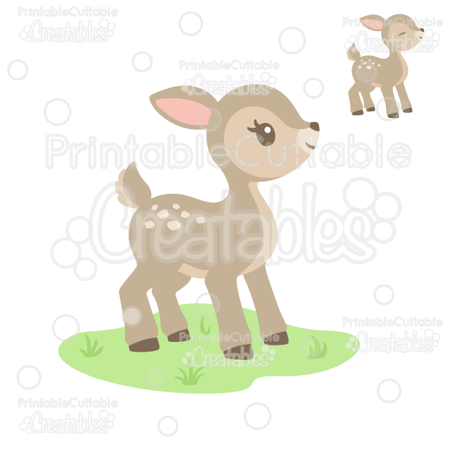 Cute Woodland Deer SVG Cut File & Clipart