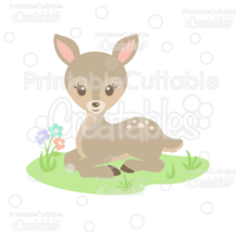Sweet Woodland Deer SVG Cut File & Clipart