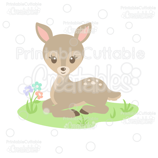 Sweet Woodland Deer Svg Cut File Clipart For Silhouette Studio Cricut Design Space