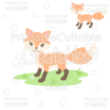 Sweet Woodland Fox SVG Cut File & Clipart