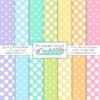 Spring Polka Dots Seamless Patterns & Digital Paper Pack